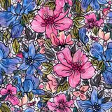 pisze kwiaty ja obrazu obrazka akwarela Obrazy Royalty Free