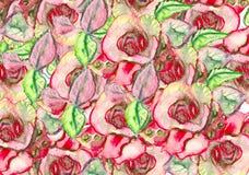 pisze kwiaty ja obrazu obrazka akwarela kwiecista ilustracja, liść i pączki, Botaniczny skład dla poślubiać lub kartka z pozdrowi royalty ilustracja