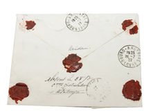 pisze list foka rocznika target2273_0_ Obraz Royalty Free