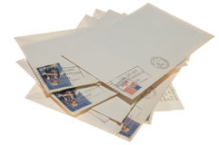 pisze list starą stertę Zdjęcie Stock