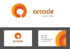 Pisze list wizytówka projekt i logotyp Wielocelowy kreatywnie barwiony logo Listowy korporacyjny loga projekt Zdjęcia Royalty Free