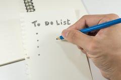 Pisze twój życiu codziennym robić liście Zdjęcia Stock