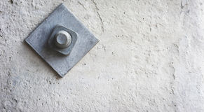 Pitão oxidado velho do ferro, um parafuso da asseguração imagem de stock royalty free