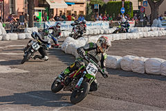 Pit bikes race Royalty Free Stock Photography