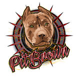 Pit brown dog art Stock Photography