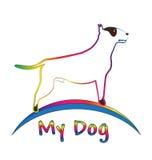 Pit bull dog logo Stock Photos