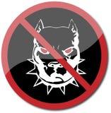 Pit bull warning Stock Photo