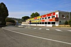 Pit Complex de Targa Florio, Cerda, Sicile Photographie stock