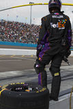 NASCAR Sprint Cup Denny Hamlin Pit Stop Royalty Free Stock Photography
