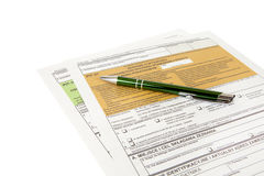 PIT declaration - Polish tax document Royalty Free Stock Photography