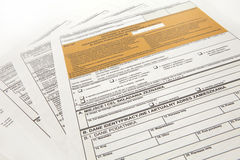 PIT declaration - Polish tax document Royalty Free Stock Images