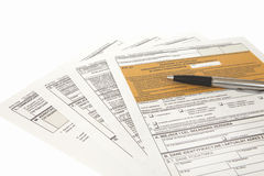 PIT declaration - Polish tax document Royalty Free Stock Photos