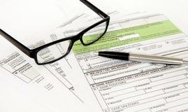 PIT declaration - Polish tax document Stock Image