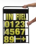 Pit display board. Motor-sports pit display board royalty free stock image