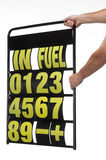 Pit display board Stock Image