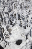 Pit of Hell at Wat Rong Khun Royalty Free Stock Photography