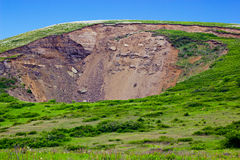 Pit in the hill over the underground mine Stock Photography