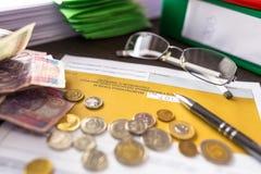 PIT-37 for individual tax return. Polish tax form PIT-37 for individual tax return stock photography