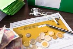 PIT-37 for individual tax return. Polish tax form PIT-37 for individual tax return stock photo