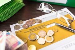 PIT-37 for individual tax return. Polish tax form PIT-37 for individual tax return royalty free stock photo