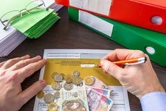 PIT-37 for individual tax return. Polish tax form PIT-37 for individual tax return stock images
