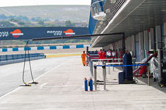 Pit lane Royalty Free Stock Photography