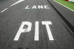 Pit Lane Entrance Royalty Free Stock Image
