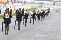 Pit Lane Girls Fotografia de Stock