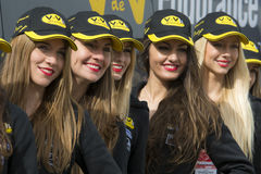 Pit Lane Girls Imagem de Stock Royalty Free