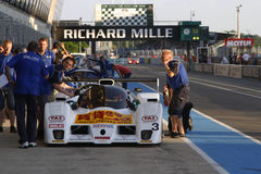 In the pit lane of Le Mans Stock Photos