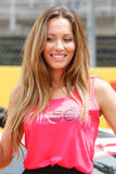 Pit line girl on the Circuit of catalonia Stock Photos