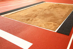 The pit for long jump Royalty Free Stock Images