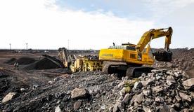 Pit Manganese Mining y equipo abiertos fotografía de archivo