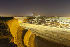Pit Mine Wall At Night Royalty Free Stock Image