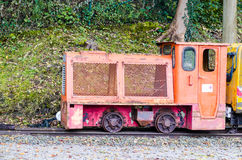 Pit mines, narrow-gauge railway. Pit mine, field or narrow-gauge railway in the use of gold, silver and copper and coal mines Stock Images