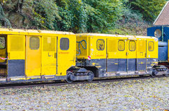 Pit mines, narrow-gauge railway. Pit mine, field or narrow-gauge railway in the use of gold, silver and copper and coal mines Stock Photography
