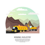 Pit Mining Industry Concept Imágenes de archivo libres de regalías