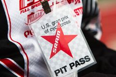 Pit Pass from the US Grand Prix Cyclocross 2011 Royalty Free Stock Images