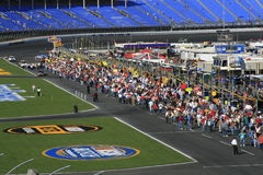 Pit Road Inspection - Fan Styl. NASCAR fans walkpit road before the 2007 Bank of America 500/NASCAR Race for the Chase at Lowes Motor Speedway Stock Photo