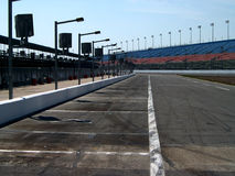 Pit Row. Long shot of pit row Royalty Free Stock Photo