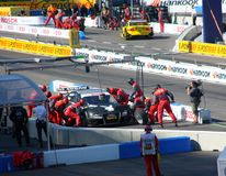 Pit stop in DTM Royalty Free Stock Photography