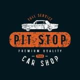 Pit stop emblem Stock Image