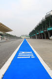 Pit stop lane. Pit stop area at Sepang International Circuit on a overcast day in May, 2010 Stock Image