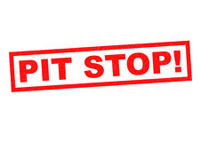 PIT STOP!. Red Rubber Stamp over a white background Stock Images