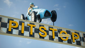 Pit Stop sign and text Royalty Free Stock Photography