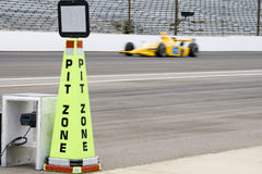 Pit zone, horizontal. Pit zone cone at Indianapolis Motor Speedway Stock Photography