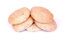 在希腊pita上添面包 库存照片