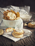Pita Bites with cheese sauce Stock Image