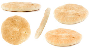 Pita bread. Set of bannock  bread  on white background Royalty Free Stock Photography