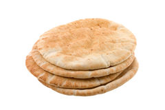 Pita Bread. Isolated on white Stock Image